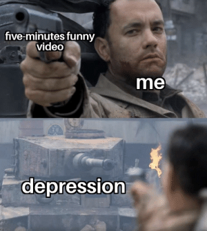 Funny, Depression, and Video: five-minutes funny  video  me  s II  depression