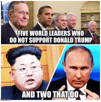 Tell them you found it at Rude and Rotten Republicans: FIVEWORLD LEADERS WHO  DO NOT SUPPORT DONALD TRUMP  AND TWO THATDO  fip.com Tell them you found it at Rude and Rotten Republicans