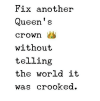 Love this 👑❤️ Rp @blinklashy_amanda @blinklashy_amanda ❤️: Fix another  Queen's  crown  without  telling  the world it  Was Crooked. Love this 👑❤️ Rp @blinklashy_amanda @blinklashy_amanda ❤️