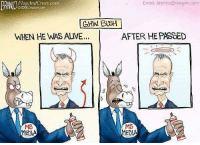 Alive, Memes, and Email: FlagAndCross.com  02018 Creators com  Email; branco@reagan.com  GHW. BUSH  WHEN HE WAS ALIVE...  AFTER HE PASSED  MS  MEDIA  MS  MEDIA (LC)