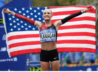 Earlier today, Shalane Flanagan became the first American woman to win the New York City Marathon on Sunday since 1977, pulling away from Mary Keitany in the last three miles of the race for her first major marathon victory.: FLANAGAM  017 Earlier today, Shalane Flanagan became the first American woman to win the New York City Marathon on Sunday since 1977, pulling away from Mary Keitany in the last three miles of the race for her first major marathon victory.