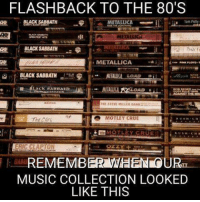 80s, Dank, and Metallica: FLASHBACK TO THE 80'S  BLACK SABBATH  METALLICA  BLACK SABBATH  METALLICA  BLACK SABBATH  LOAD  MOTLEY CRUE  MOTLEY CRUE  ERIC CLAPTON  REMEMBER WEEN OURT  MUSIC COLLECTION LOOKED  LIKE THIS Who else remembers?