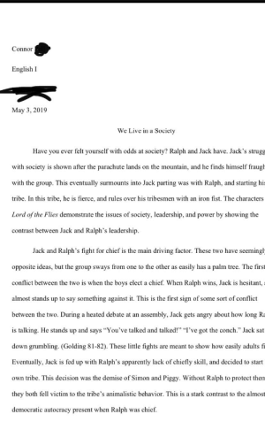 """Flashback to when I titled my lord of the flies essay """"We live in a Society"""": Flashback to when I titled my lord of the flies essay """"We live in a Society"""""""