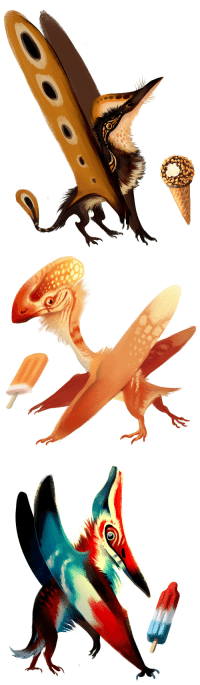 Target, Tumblr, and Blog: flavoracle:  galleytrot:popsicle pterosaurs  This is one of those posts you don't realize you desperately needed until you see it for yourself.