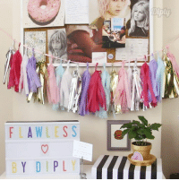 Dank, 🤖, and Flawless: FLAWLESS  BY DIP Tassel garland is the perfect way to dress up your next party or your dorm room!