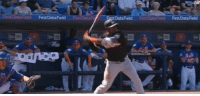 """Anime, Baseball, and Gif: Fld First DataField  DataField Fist ot Fid Frst Data Freld batter-sempai:  sueanoi:  pardonmewhileipanic:  bankuei:  meqabitch:  theryanproject:  futureblackpolitician:  cloacacarnage: i know its the mets, but this is the coolest shit i've ever seen a human being do  Wtf????  Smoove with it too  This is the kind of shit you see in anime that shows that a certain character is stronger than other characters.  """"Pathetic. You can't even hold the bat you dare step to the plate? Have you no respect for the sport?""""  reminds me of this gif    Baseball players are to be feared"""