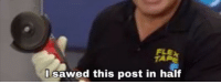 Flexing, Power, and Post: FLE  I sawed this post in half with the power of Flex Tape!