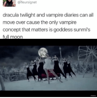 Klaus is shaking . . . . . . . Credit to owner✌: @fleursignet  dracula twilight and vampire diaries can all  move over cause the only vampire  concept that matters is goddess sunmi's  full moon Klaus is shaking . . . . . . . Credit to owner✌