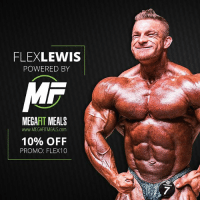 Food, Memes, and Struggle: FLEXLEWIS  POWERED BY  MR  MEGAFIT MEALS  www.MEGAFITMEALS.com  10% OFF  PROMO: FLEX10 Teaming up with the guys over @megafitmeals for this years @mrolympiallc has been amazing!!! My prep is on point, and with them offering customization on meals, there's no waste and quality is second to none, most know I struggle to eat, but it's great to be in prep and enjoy the food I'm consuming on the daily! So pumped about this prep... Use code: Flex10 for 10% off your next order. MegaFitMeals OlympiaPrep CustomMealPlans FlexLewis