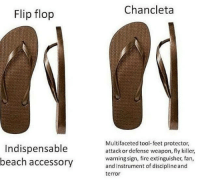 """How many times did you here """"Traeme la chancla!"""" growing up?  #growingupmexican #mexican #mexicanproblems   — Products shown: Proud Mexican Shirt.: Flip flop  Indispensable  beach accessory  Chan cleta  Multifaceted tool-feet protector,  attack or defense weapon, fly killer,  warning sign, fire extinguisher, fan,  and instrument of discipline and  terror How many times did you here """"Traeme la chancla!"""" growing up?  #growingupmexican #mexican #mexicanproblems   — Products shown: Proud Mexican Shirt."""