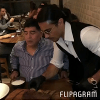 Bae, Soccer, and Salt: FLIPAGRAM Find someone who looks at you like Maradona looks at Salt Bae... 😂 https://t.co/CdPounulpv
