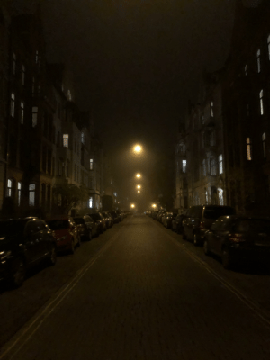Streets, Germany, and Lights: Floating lights in the Streets of Hannover Germany