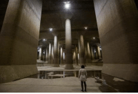 Water, Tokyo, and Typhoon: Flood chamber underneath Tokyo fills with water during typhoon seasons