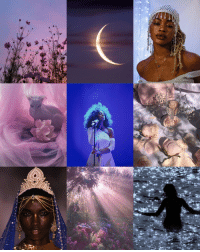 Instagram, Tumblr, and Aesthetic: floreashelby: soft afro witch aesthetic, inspired by water moons and libra placements  [1 ☾ 2 ☾ 3 ☾ 4 ☾ 5 ☾ 6 ☾ 7 ☾ 8 ☾ 9]