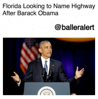 Florida Looking to Name Highway After Barack Obama-blogged by @thereal__bee ⠀⠀⠀⠀⠀⠀⠀⠀⠀ ⠀⠀ Looks like a highway named after former President Barack Obama could be happening sooner than we thought. ⠀⠀⠀⠀⠀⠀⠀⠀⠀ ⠀⠀ The Tampa Bay Times reports that lawmakers in Florida are considering naming one of the highways after Obama. ⠀⠀⠀⠀⠀⠀⠀⠀⠀ ⠀⠀ State Rep. Patricia Williams, (D-Lauderdale Lakes), filed HB 265 to rename part of Dixie Highway or State Road 811 in Broward County to President Barack Obama Highway. ⠀⠀⠀⠀⠀⠀⠀⠀⠀ ⠀⠀ The proposed bill is rather new, so as of now there's no word on how Congress has responded to it.: Florida Looking to Name Highway  After Barack Obama  @balleralert Florida Looking to Name Highway After Barack Obama-blogged by @thereal__bee ⠀⠀⠀⠀⠀⠀⠀⠀⠀ ⠀⠀ Looks like a highway named after former President Barack Obama could be happening sooner than we thought. ⠀⠀⠀⠀⠀⠀⠀⠀⠀ ⠀⠀ The Tampa Bay Times reports that lawmakers in Florida are considering naming one of the highways after Obama. ⠀⠀⠀⠀⠀⠀⠀⠀⠀ ⠀⠀ State Rep. Patricia Williams, (D-Lauderdale Lakes), filed HB 265 to rename part of Dixie Highway or State Road 811 in Broward County to President Barack Obama Highway. ⠀⠀⠀⠀⠀⠀⠀⠀⠀ ⠀⠀ The proposed bill is rather new, so as of now there's no word on how Congress has responded to it.
