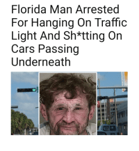 Florida Man: Florida Man Arrested  For Hanging On Traffic  Light And Sh*tting On  Cars Passing  Underneath  wil