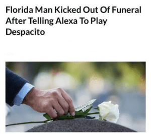Alexa Send F in Chat: Florida Man Kicked Out Of Funeral  After Telling Alexa To Play  Despacito Alexa Send F in Chat
