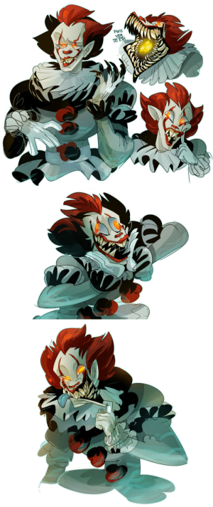 Children, Spider, and Tumblr: FloSS  TE zooophagous:  flatw00ds:  ask-fierce-onion:  flatw00ds:  HERE HE IS. 2017 Pennywise is such a nice design. a nice boy  Pennywise is canonly a female giant space spider thing :/  here i posted this last week just for you (and the 1000 other people who only vaguely know the details of the book from tumblr posts and felt the need to correct my hideous oversight):  Are… are people starting discourse with you over the alleged misgendering of a shapeshifting evil space tarantula clown that lures and devours children after psychologically torturing them?