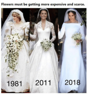 Funny, Flowers, and Awesome: Flowers must be getting more expensive and scarce.  1981 2011 2018 15 Trending Awesome & Funny Photos Of 21 – 5 – 2018