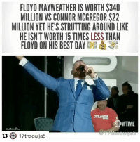 "Ass, Boxing, and Floyd Mayweather: FLOYD MAYWEATHER IS WORTH $340  MILLION VS CONNOR MCGREGOR $22  MILLION YET HE'S STRUTTING AROUND LIKE  HE ISN'T WORTH 15 TIMES LESS THAN  FLOYD ON HIS BEST DAY  WTIME Repost @17thsoulja5 ・・・ In a conversation with someone, I discussed McGregor and his ""Dance for me, boy"" comments. And to my shock, just like Mayweather's father, this person didn't think McGregor's comments were racist. Yes, my side eye was twitching. The person (who shall not be named) excused the comment by saying that maybe McGregor probably didn't understand the context in which he was using it, basically because he's from Ireland. Ahh ... good ol' Ireland. See, here's the thing about Ireland: Racism is rampant there. In a 2014 study from Enar, the European Network Against Racism (Ireland), it cited over 182 incidents of racist verbal abuse, violence, discrimination and other attacks toward Africans living in the country. And racism is also rampant in McGregor's history of taunts and attempts to be ""witty."" It's not just McGregor's Tuesday press conference where he said, ""Dance for me, boy!"" It also happened in 2016 when McGregor called Nick Diaz a ""cholo gangster from the hood.""And when McGregor told Brazilian fighter Jose Aldo, ""I own this town, I own Rio de Janeiro. I would invade his favela on horseback and would kill anyone who wasn't fit to work, but we're in a new time, so I'll whoop his ass instead."" And then, Wednesday night, McGregor pulled out his ""Dance for me, boy!"" line again while Mayweather just sat back and watched. It seems as though everyone but McGregor gets the racial undertones of not only calling a black man ""boy"" but also telling one to dance, as if he's some type of court jester.Sure, smack talk exists in boxing, just like in any other sport, but McGregor has continually taken it to a different level, though there are some who just want to chalk it up to his not being aware. Something tells me he's aware, all right, and he's not going to stop. But here's to hoping that Mayweather knocks his racist head right off his body in August 17thsoulja"