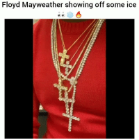 Af, Floyd Mayweather, and Funny: Floyd Mayweather showing off some ice This is icy af 👀🔥🔥🙌🙌🙌