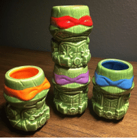 @fltodd is getting the party started with his TMNT tiki mugs! TGIF 🎉: @fltodd is getting the party started with his TMNT tiki mugs! TGIF 🎉