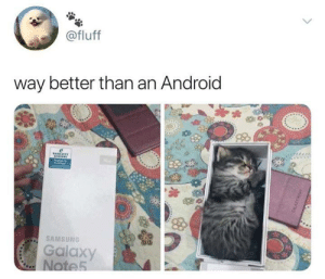Android, Memes, and Samsung: @fluff  way better than an Android  SAMSUNG  Galaxy