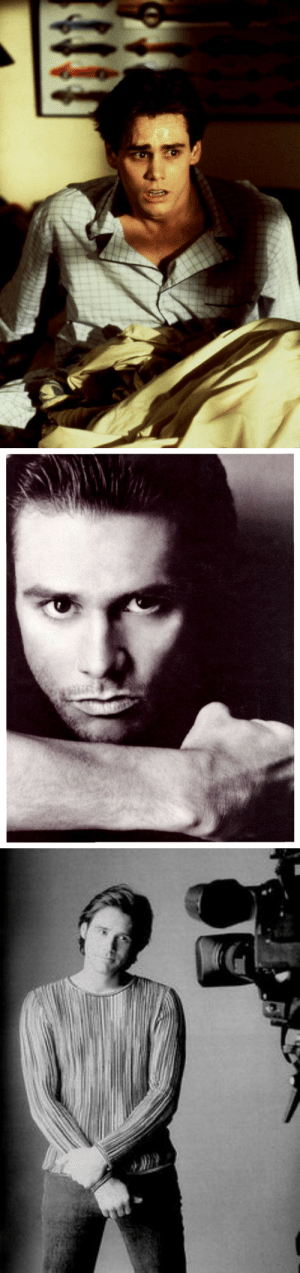 "Dude, Jim Carrey, and Tumblr: fluffychesnut:  glumshoe:  Today I made the unfortunate discovery that Jim Carrey was once a conventionally handsome prettyboy. As in, you could describe him as ""elegant"" and possessing ""chiseled good looks"" and wouldn't be off the mark. With a neutral expression on his face, he looked… pretty. Serene.  But the moment he displays an emotion, the illusion is shattered. It's like he went and used some exclusive mods in character creation that altered the way reality affected his face. Physics just work differently for him. He is an average-looking dude under the eldritch forces that animate his face.  it's the same face"