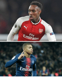 Danny Welbeck, 28 years old:  69 club career goals  Kylian Mbappe, 20 years old:  70 club career goals https://t.co/KC58HXSe3J: Fly  Emirates   Fly  Emirate Danny Welbeck, 28 years old:  69 club career goals  Kylian Mbappe, 20 years old:  70 club career goals https://t.co/KC58HXSe3J