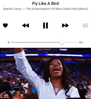 Gif, Mariah Carey, and Tumblr: Fly Like A Bird  Mariah Carey-The Emancipation Of Mimi [Ultra Plat Edition]  D) he knows this and like 99% of all the mariah songs he now talks about cus of ME
