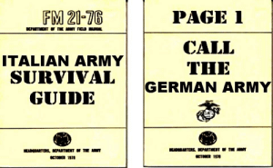 Army, Page, and German: FM 21-T6  PAGE 1  CALL  ITALIAN ARMY  THE  SURVIVAL  GUIDE  GERMAN ARMY  OCTOBER 10