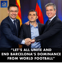 "Valverde Has Signed a Contract Extension. 🔥: FM  ""LET'S ALL UNITE AND  END BARCELONA'S DOMINANCE  FROM WORLD FOOTBALL"" Valverde Has Signed a Contract Extension. 🔥"