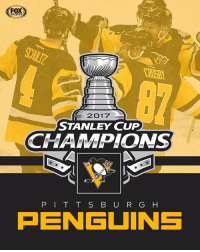 Back-to-back StanleyCup Champions! Congrats to the Penguins!: FO  SPORT  2017  STANLEY CUP  CHAMPIONS  P I T T S E U R  G H  AENGUINS Back-to-back StanleyCup Champions! Congrats to the Penguins!
