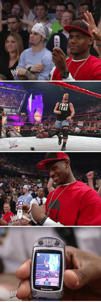 Memes, Stone Cold Steve Austin, and Austin: FOCK  FeAR   RENA  Jnana   Panasonio Nothing more 2003 than young LeBron wearing baggy clothes & taking pics of Stone Cold Steve Austin on a flip phone
