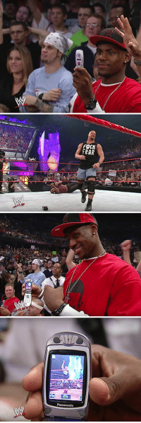 Nothing more 2003 than young LeBron wearing baggy clothes & taking pics of Stone Cold Steve Austin on a flip phone https://t.co/xX7kXFnExI: FOCK  FeAR   UND   Panasonic Nothing more 2003 than young LeBron wearing baggy clothes & taking pics of Stone Cold Steve Austin on a flip phone https://t.co/xX7kXFnExI