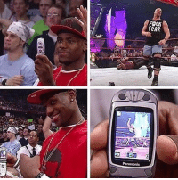 Memes, Phone, and Stone Cold Steve Austin: FOCM  RAR Most 2003 photo ever: Teenage LeBron taking a pic of Stone Cold Steve Austin on a Panasonic flip phone