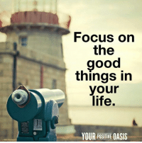 Life, Memes, and Oasis: Focus on  the  good  things in  your  life,  YOUR POSITIVE OASIS