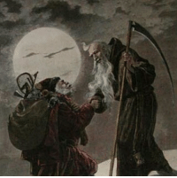 "Back to the Future, DeLorean, and Memes: FOLLOW @maneff2000 - Santa Claus, Saturn, Saturnalia, the Tesseract and the 88 paradox -------------------- ""Santa Claus and Father Time"" interesting picture. You could even say satan and Saturn aka satan. -------------------------------------- ""Santa Claus and Father Time from Frank Leslie's Illustrated Newspaper 1888 done by Lagarde Shows Santa and Father Time shaking hands over North America..."" -------------------- The number ""8"" is said to symbolize time. 8 is an hour glass. Because of that it's been said multiple 8's can symbolize timelines converging or a rip in spacetime. Sideways 8 is the infinity symbol. The term tesseract was first coined in 1888. The Tesseract a 4 dimensional cube and-or a device (in popular culture) capable of manipulating space time. For example the novel ""A Wrinkle In Time"" features a tesseract and interestingly enough author Madeleine L'Engle lived to age 88. Jan Berenstain(stein) ""The Berenstain(stein) Bears"" co-creator also lived to age 88. The cover of The Berenstain(stein) Bears ""All Aboard!"" Features a train with the number ""88"" front and center (trains are also said to symbolize time). In the film ""Back To The Future"" the Delorean must hit 88 to time travel. ""Donnie Darko"" another film concerning time takes place in 1988. Also note the CERN Film Festival ages 8 to 88. The festival ended on the 88th day of the year. Etc. -------------------- ""Saturnalia was an ancient Roman festival in honour of deity Saturn, held on 17 December of the Julian calendar and later expanded with festivities through to 23 December."" -------------------- Before ancient Rome the ""god"" Saturn was known as cernunnos(cern connection). His Greek name is Kronos- ""god"" of time. Another symbol for Saturn is a cube, more often a black cube. Saturn's northpole features a hexagonal shape. The hexagon is a 2D cube. ""The hexagon has 6 sides and Saturn is the 6th planet from the Sun and Saturn has 6 letters."" ""Average orbital speed 9.69 km-s"" -------------------- http:-www.printsoldandrare.com-christmas- ---"
