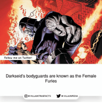 Source: Batman - Superman 9 (2004) And they are ruthless! geek dccomics like darkseid comicbooks: Follow me on Twitter!  Darkseid's bodyguards are known as the Female  Furies  步@VILLAINPE DIA  @VILLA INTRU EFACTS Source: Batman - Superman 9 (2004) And they are ruthless! geek dccomics like darkseid comicbooks