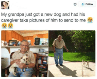 """<p>Man&rsquo;s best friend via /r/wholesomememes <a href=""""http://ift.tt/2yjcNaD"""">http://ift.tt/2yjcNaD</a></p>: Follow  My grandpa just got a new dog and had his  caregiver take pictures of him to send to me  么>  么> <p>Man&rsquo;s best friend via /r/wholesomememes <a href=""""http://ift.tt/2yjcNaD"""">http://ift.tt/2yjcNaD</a></p>"""