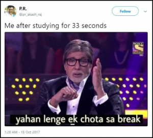 After Studying