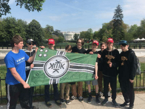 White House, House, and White: Follow-up to Freshmen Pedes in D.C. Kekistan flag in front of the white house!