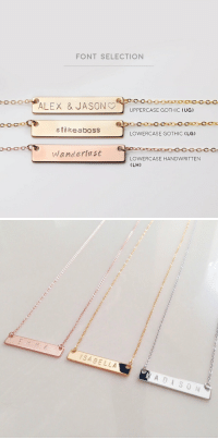 okay look @ these engraved necklaces bitch they r cute af https://t.co/04RbR739ub: FONT SELECTION  UPPERCASE GOTHIC (UG)  #11 keaboss  LOWERCASE GOTHIC (LG)  Wanderlast  LOWERCASE HANDWRITTEN  (LH)   SABELLA okay look @ these engraved necklaces bitch they r cute af https://t.co/04RbR739ub