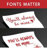 so I guess Valentines day is coming: FONTS MATTER  be mine  DEMANE.... so I guess Valentines day is coming