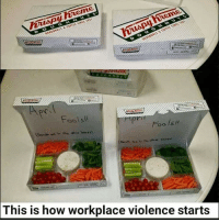 How, This, and This Is: Fools  This is how workplace violence starts