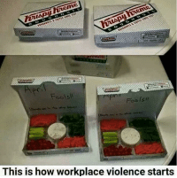 Memes, 🤖, and Workplace: Foolsti  This is how workplace violence starts Son of a....