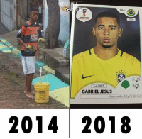 Jesus, Memes, and Manchester City: FOOT!  BRA  RUSSIA 2018  2016  m 1,75  kg 73  3-4-1997  GABRIEL JESUS  Manchester City FC (ENG)  2014 2018 Never stop dreaming https://t.co/OOUbQTkn41