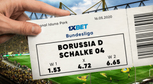 """Football comes back! Bundesliga returns albeit behind closed doors and it starts with a bang as Borussia D host Schalke! Who are you betting on?!  Use promocode """"130XBONUS"""" and Boost your first dep!  Predict the outcome: https://t.co/X4lgDEdrYR Follow: @1xbet_Eng https://t.co/Zp8J8RpgtV: Football comes back! Bundesliga returns albeit behind closed doors and it starts with a bang as Borussia D host Schalke! Who are you betting on?!  Use promocode """"130XBONUS"""" and Boost your first dep!  Predict the outcome: https://t.co/X4lgDEdrYR Follow: @1xbet_Eng https://t.co/Zp8J8RpgtV"""