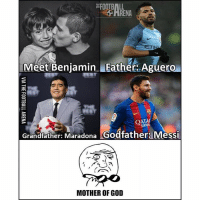 No Pressure Kid! 😳😂 🔺CHECK LATEST POST! 🔥: FOOTBALL  RENA  Meet Benjamin Father. Aguero  QATAR  Grandfather: Maradona  Godfather: Messi  MOTHER OF GOD No Pressure Kid! 😳😂 🔺CHECK LATEST POST! 🔥