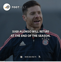 Another Legend Retires - fact football Footbolt Bayern bayernmunich respect legend Tag your friends⚡️⚡️⚡️ @Footbolt: FooTBC  XABI ALONSO WILL RETIRE  AT THE END OF THE SEASON.  KICK-ASS FACTS -A Another Legend Retires - fact football Footbolt Bayern bayernmunich respect legend Tag your friends⚡️⚡️⚡️ @Footbolt